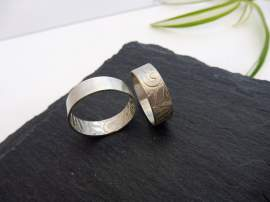 Flora - rusztikus 925-ös sterling ezüst gyűrű- Mithrillion Hagyomány