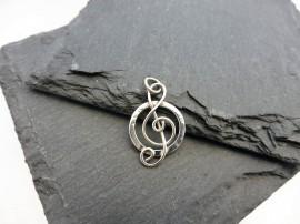 """Ciklus"" -  violinkulcs ezüst medál - Mithrillion Elegancia"