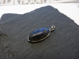 Kék labradorit sterling ezüst medál - Mithrillion Elegancia